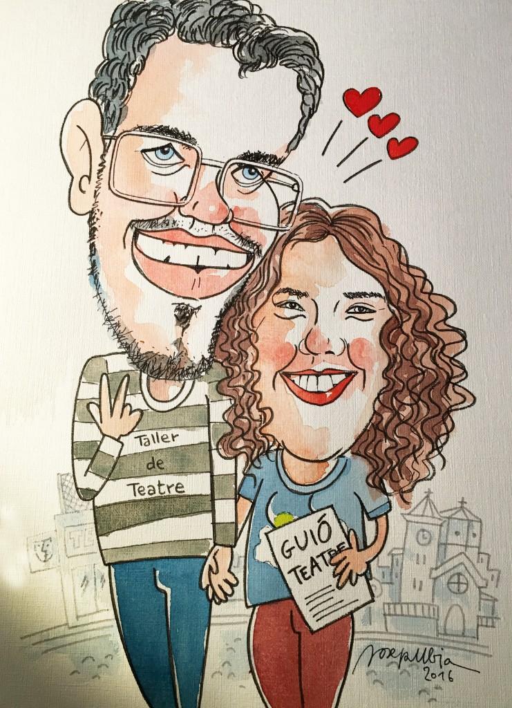caricatura parella 3