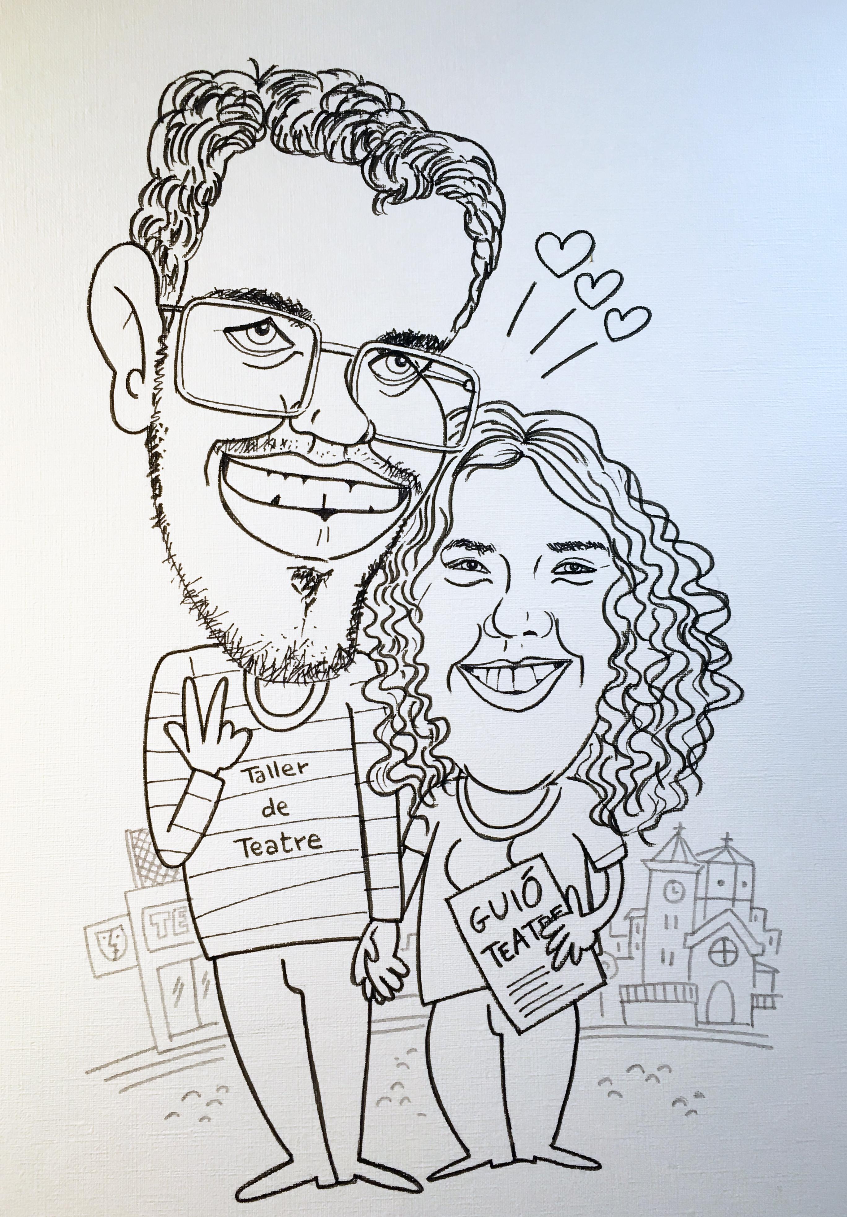 caricatura parella1