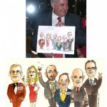 caricatures de grups per a felicitar